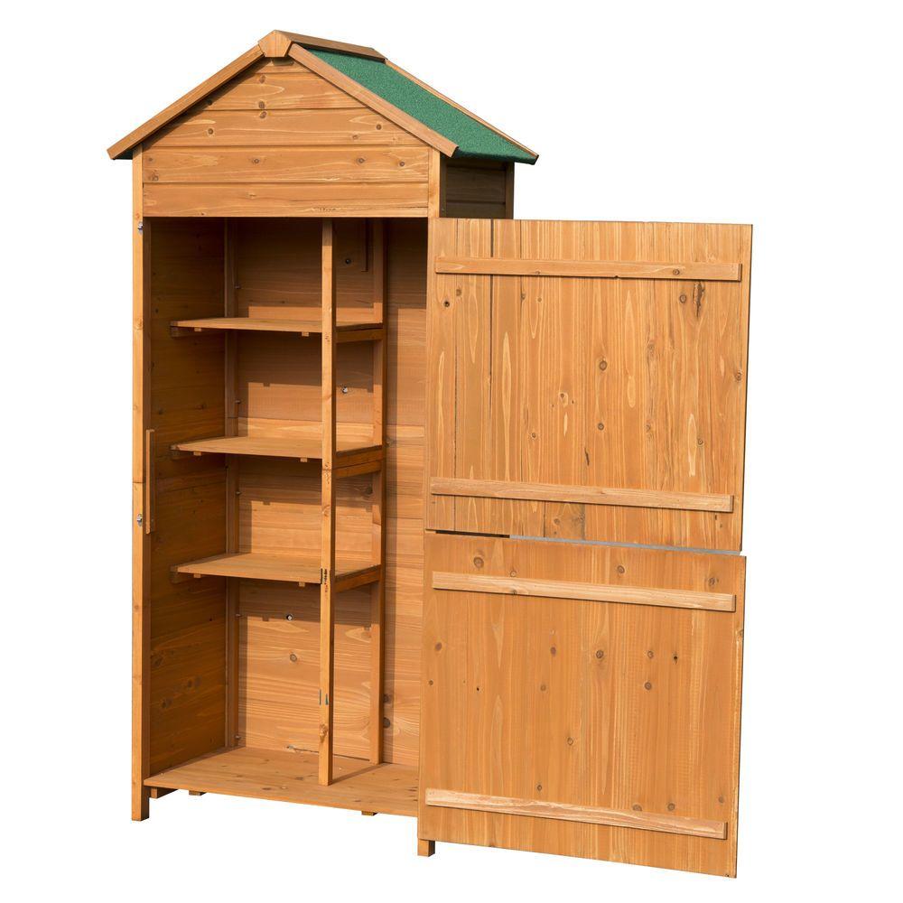Holz Gerätehaus Geräteschuppen Gartenschrank Geräteschrank