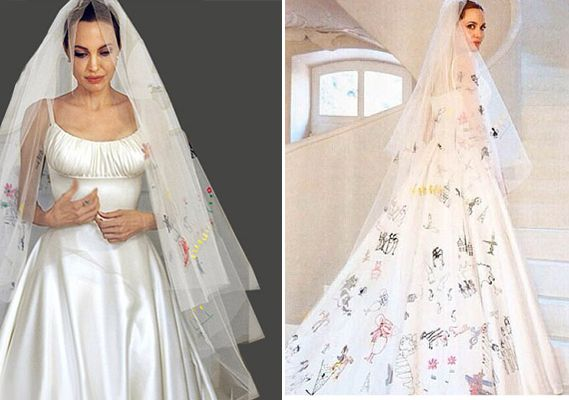 Angelina Jolie\'s wedding dress | Fashionista | Pinterest | Versace ...