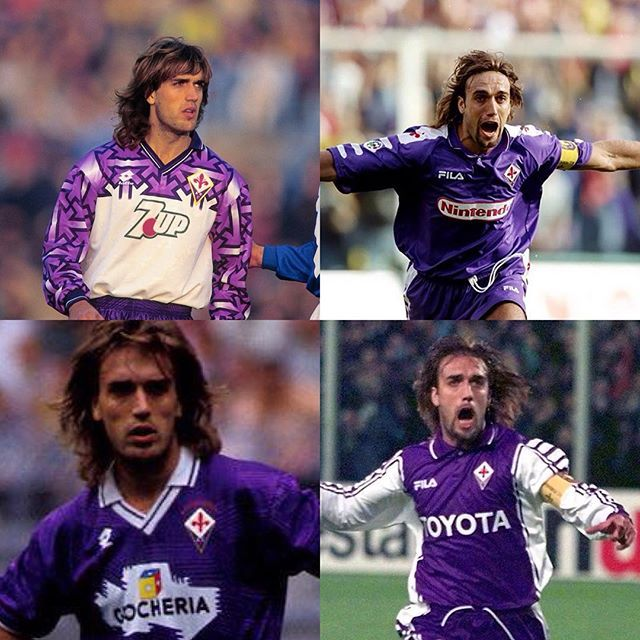 458f4880982 Batigol and the amazing 90s kits of fiorentina  gabrielbatistuta  batistuta   batigol  fiorentina  florence  italia  italianfootball  seriea   calcioitalia ...