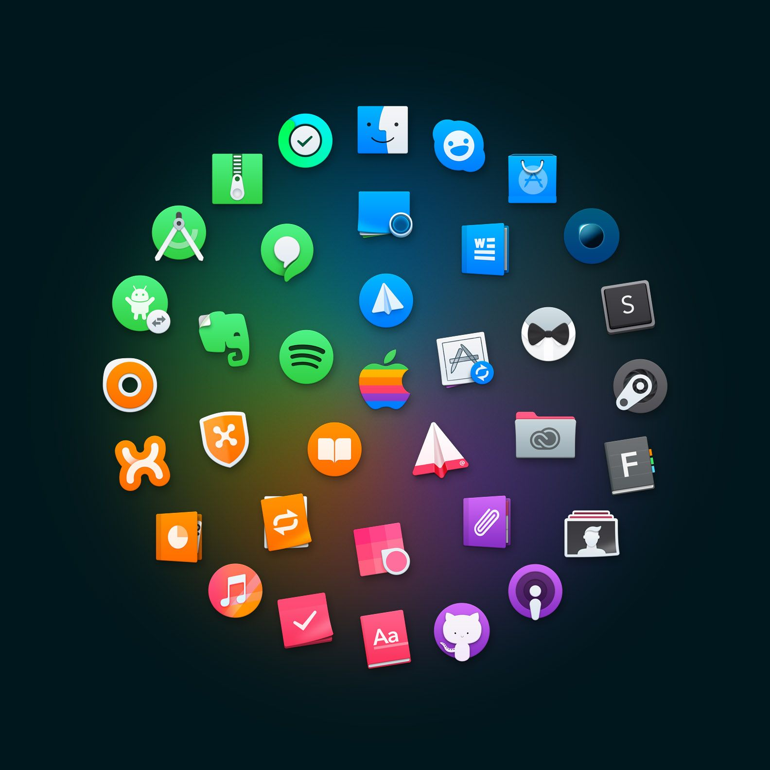 Icon Set for macOS (60 Icons) アイコン