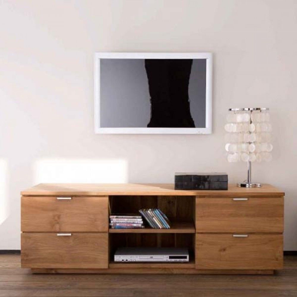 Teak Groove Tv Unit With 4 Drawers