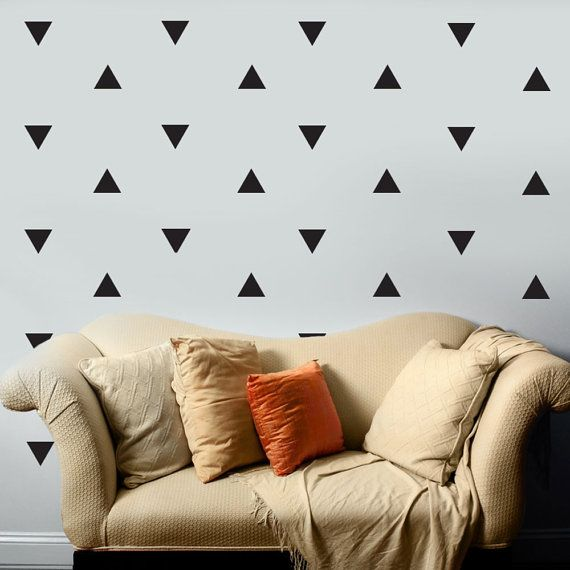 56 Large Black Triangle Vinyl Wall Decals Peel And Stick These
