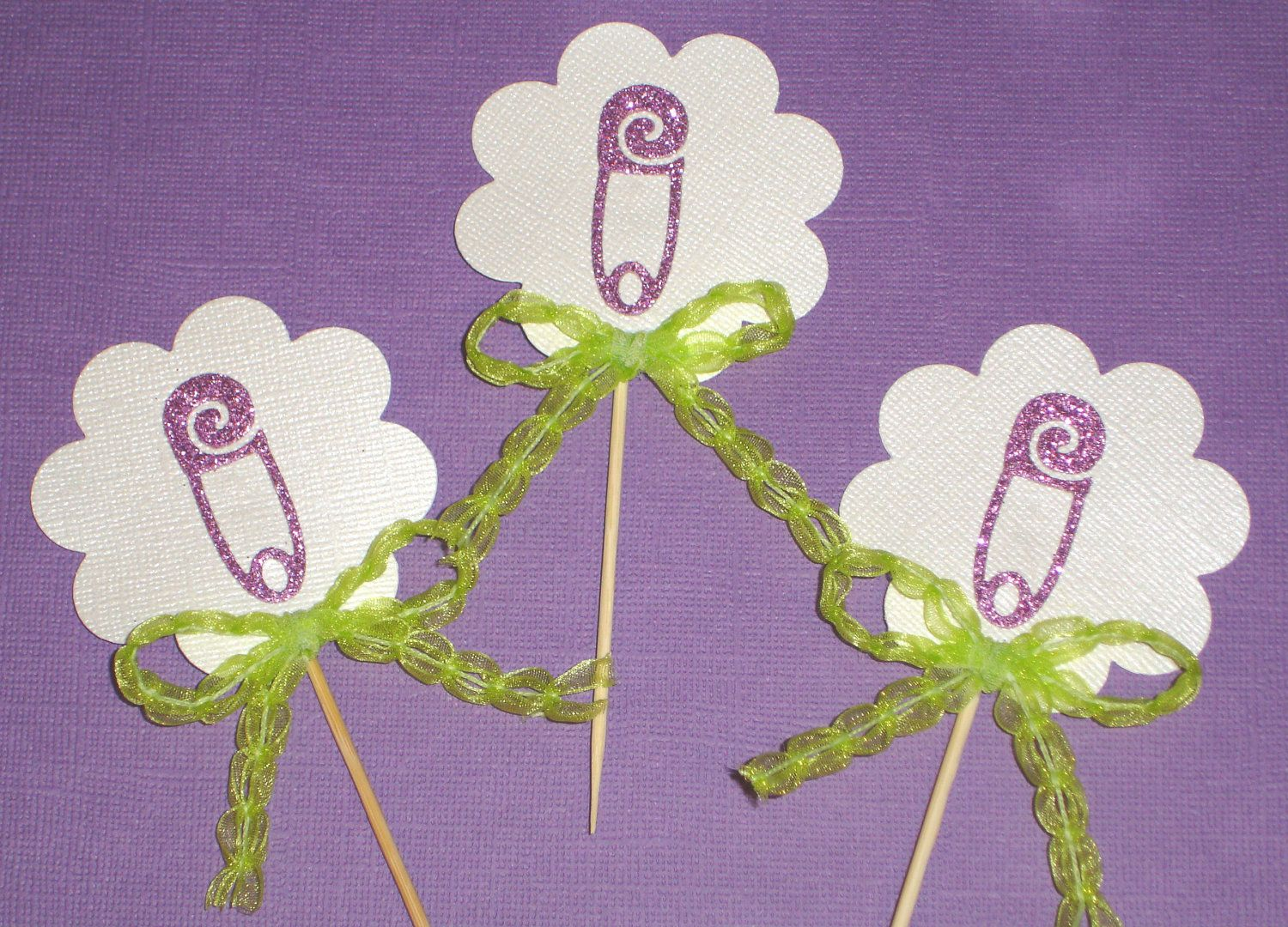 Purple And Lime Green Baby Shower Decorations  from i.pinimg.com