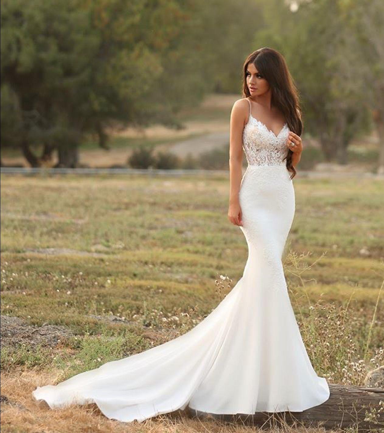 Vow Renewal Satin Mermaid Wedding Dress Bridal Dresses Lace Modest Bridal Gowns [ 1422 x 1263 Pixel ]