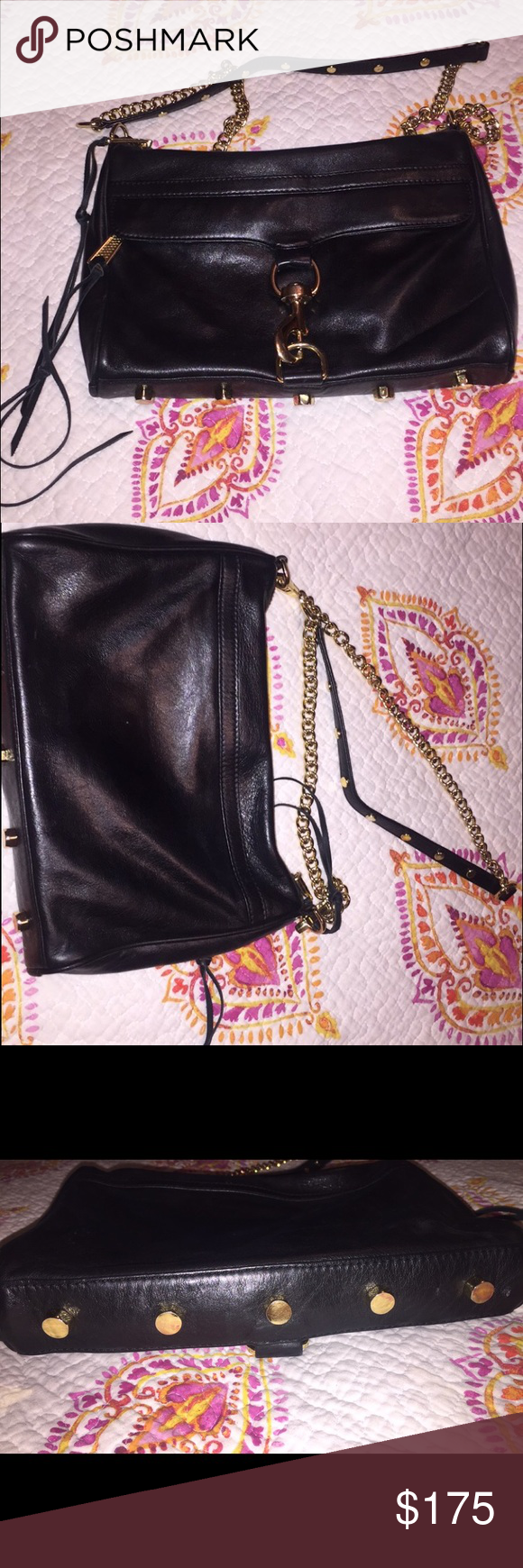 Rebecca Minkoff Mac 100% Authentic!  Purchased from Neiman Marcus in Atlanta This bag is in tip top shape! It is black in color, with gold hardware. Not one scratch on bag, not one mark. I've had it less than a year, and carried it for less than a week! It's just too small for me. I paid $299 for this bag, and am asking $175 OBO! Let me know of any more pictures or questions! Rebecca Minkoff Bags Crossbody Bags