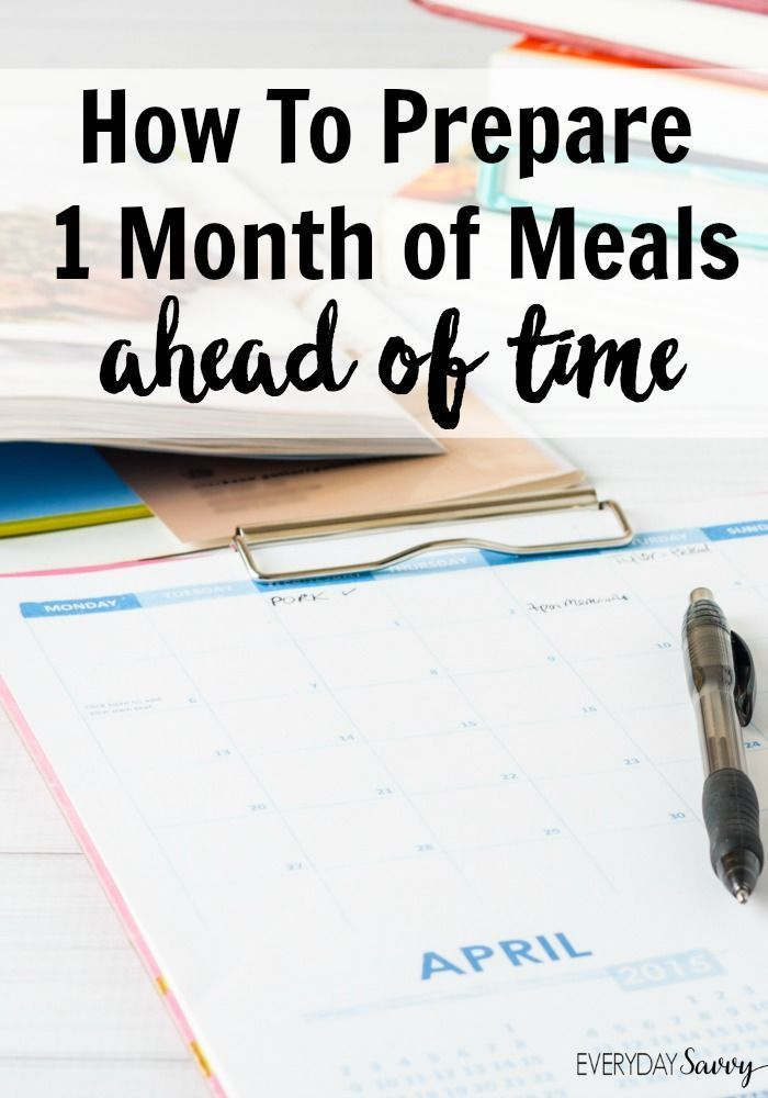 Want to try making once a month meals? These once a month meal planning tips and resources will get started the right way. via @everydaysavvy