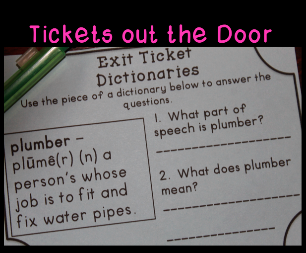 Tickets out the door - conventions dictionary skills guide words  sc 1 st  Pinterest & Conventions Exit Tickets or Exit Slips | Dictionary skills Multiple ...