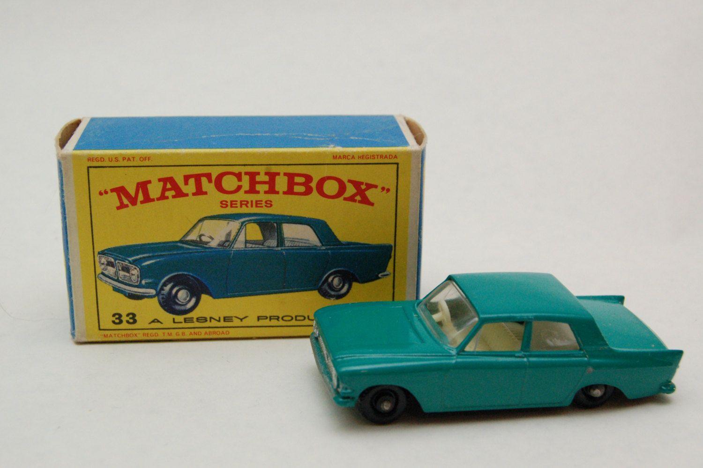 Matchbox Lesney 33 Ford Zephyr With Original Box Vintage Toy