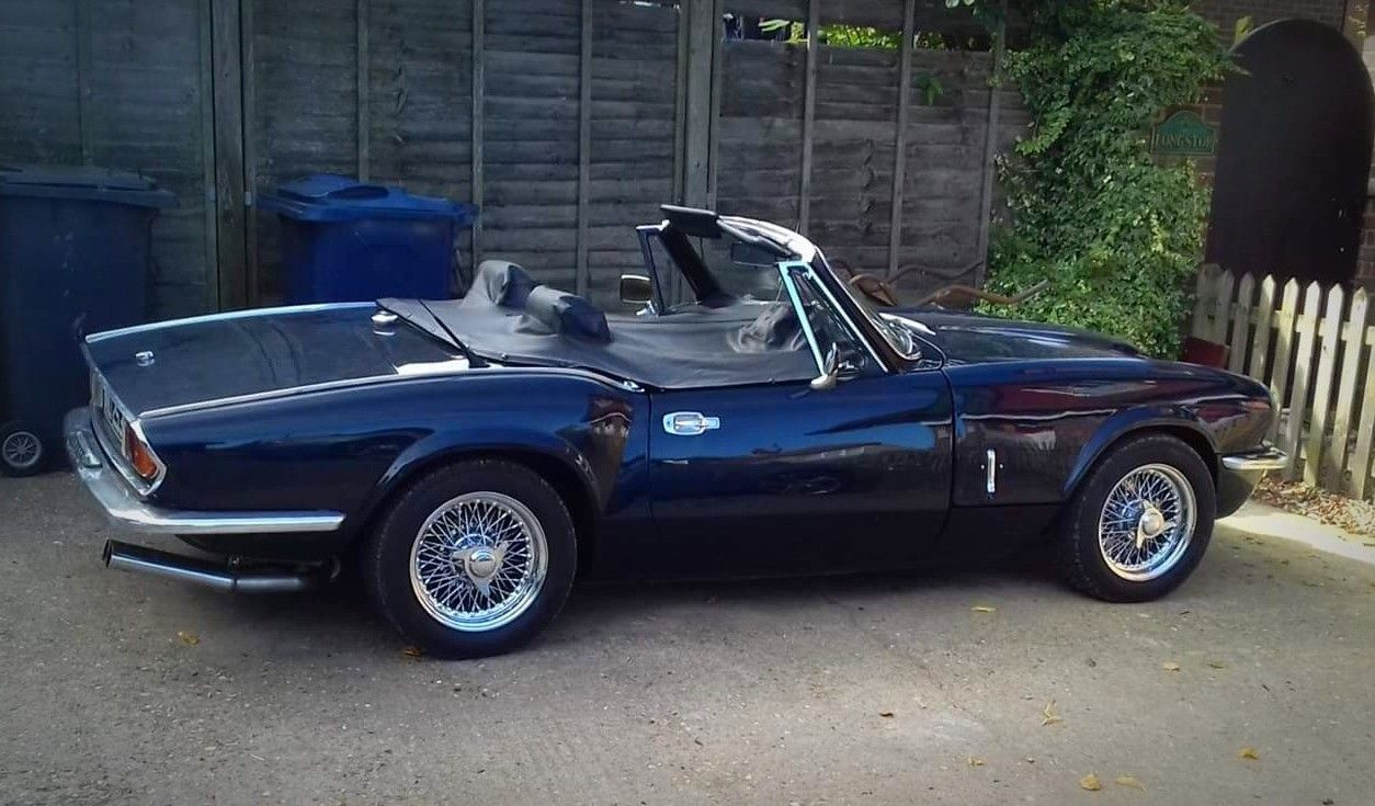 Triumph Spitfire With Updated Suspension Diff And 2 5pi Engine Triumph Cars Triumph Spitfire British Sports Cars
