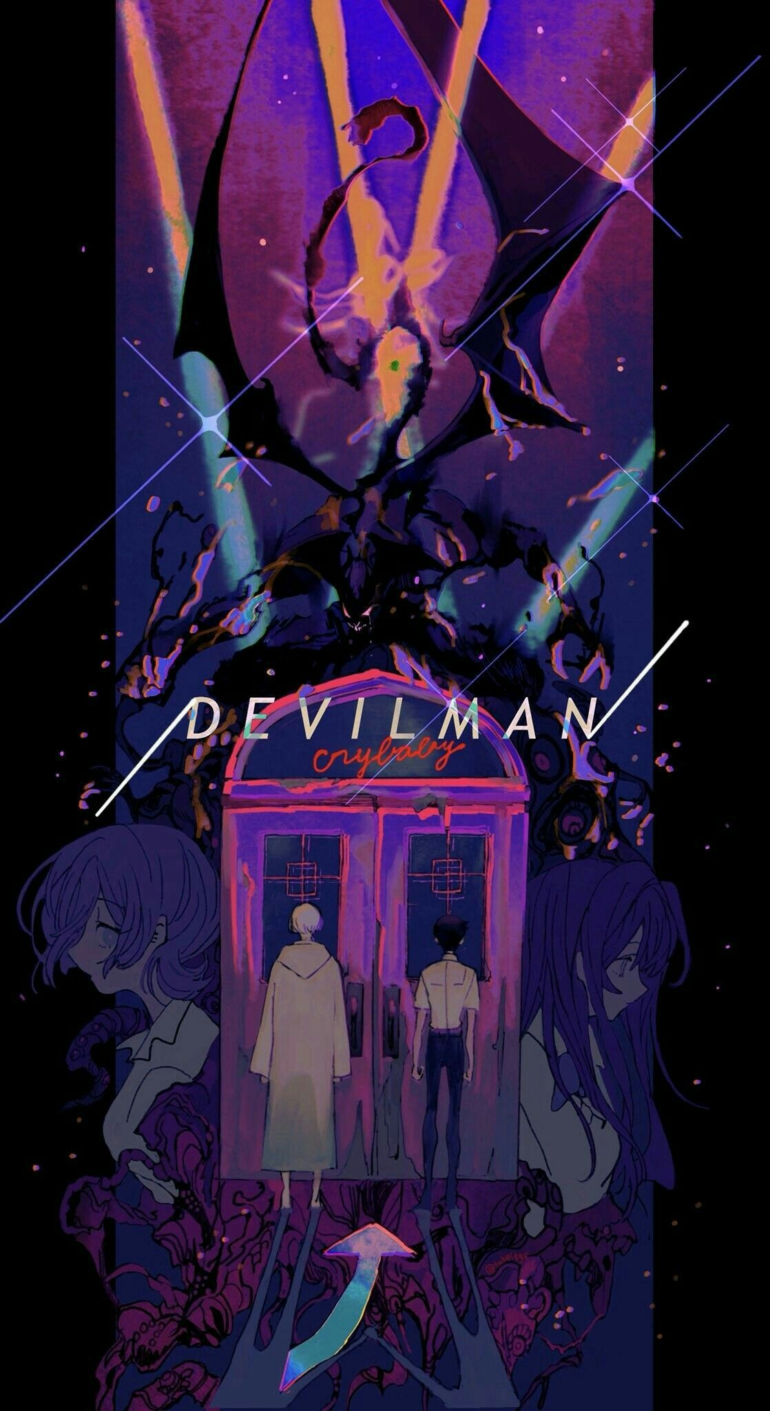 Pin By Emi Naomi On Devilman Crybaby Anime Wall Art Devilman Crybaby Anime Wallpaper