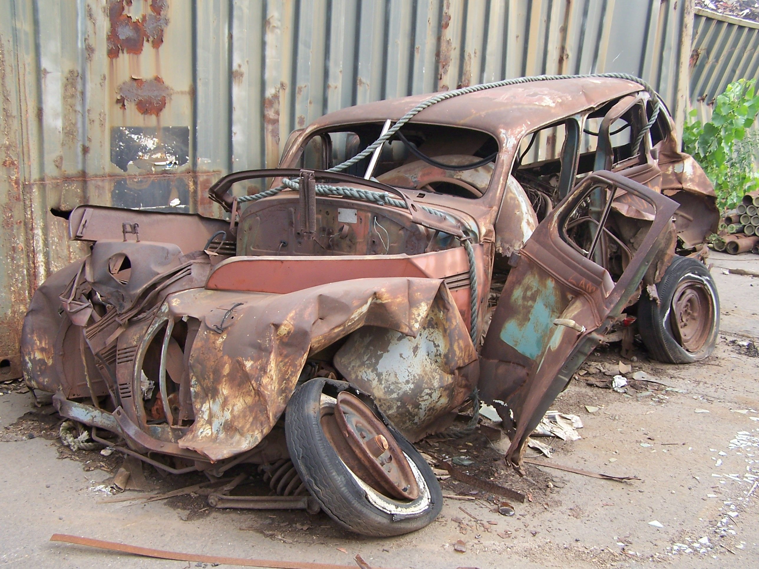 For sale:Vintage sedan,needs some work\