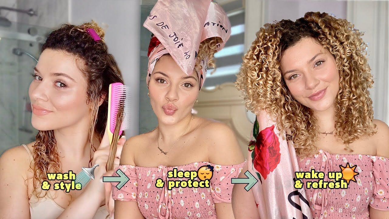 My Night Time Curly Hair Wash Routine Styling Sleep Refresh Tips Youtube Curly Hair Styles Hair Washing Routine Curly Hair Cream