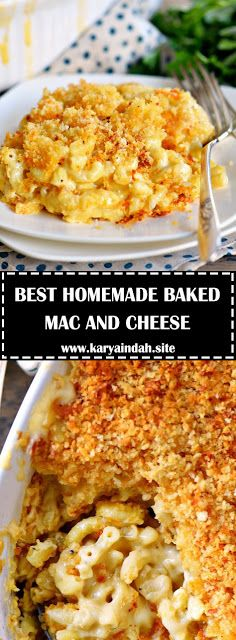 THE BEST HOMEMADE BAKED MAC AND CHEESE - #recipes #macandcheeserecipe