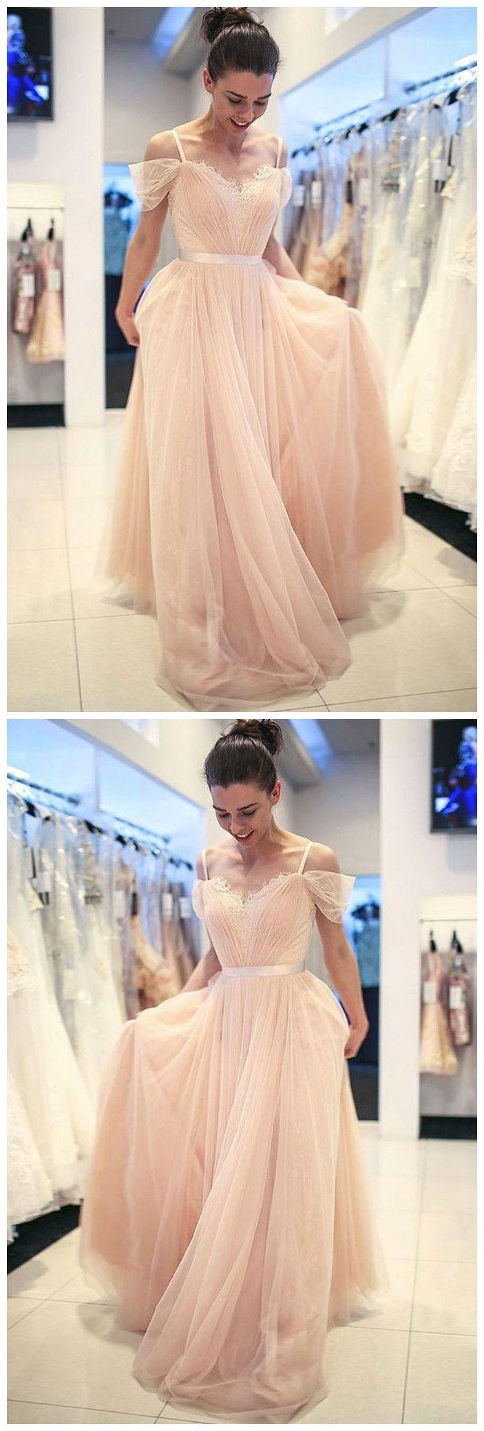 Elegant prom dress aline cheap tulle lace long prom dresses evening