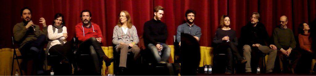 Encuentro con los espectadores en el Teatro  Gayarre (Pamplona) 02/03/2013. Foto: