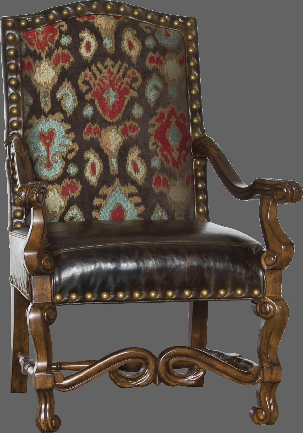 Red Leather Lounge Chair