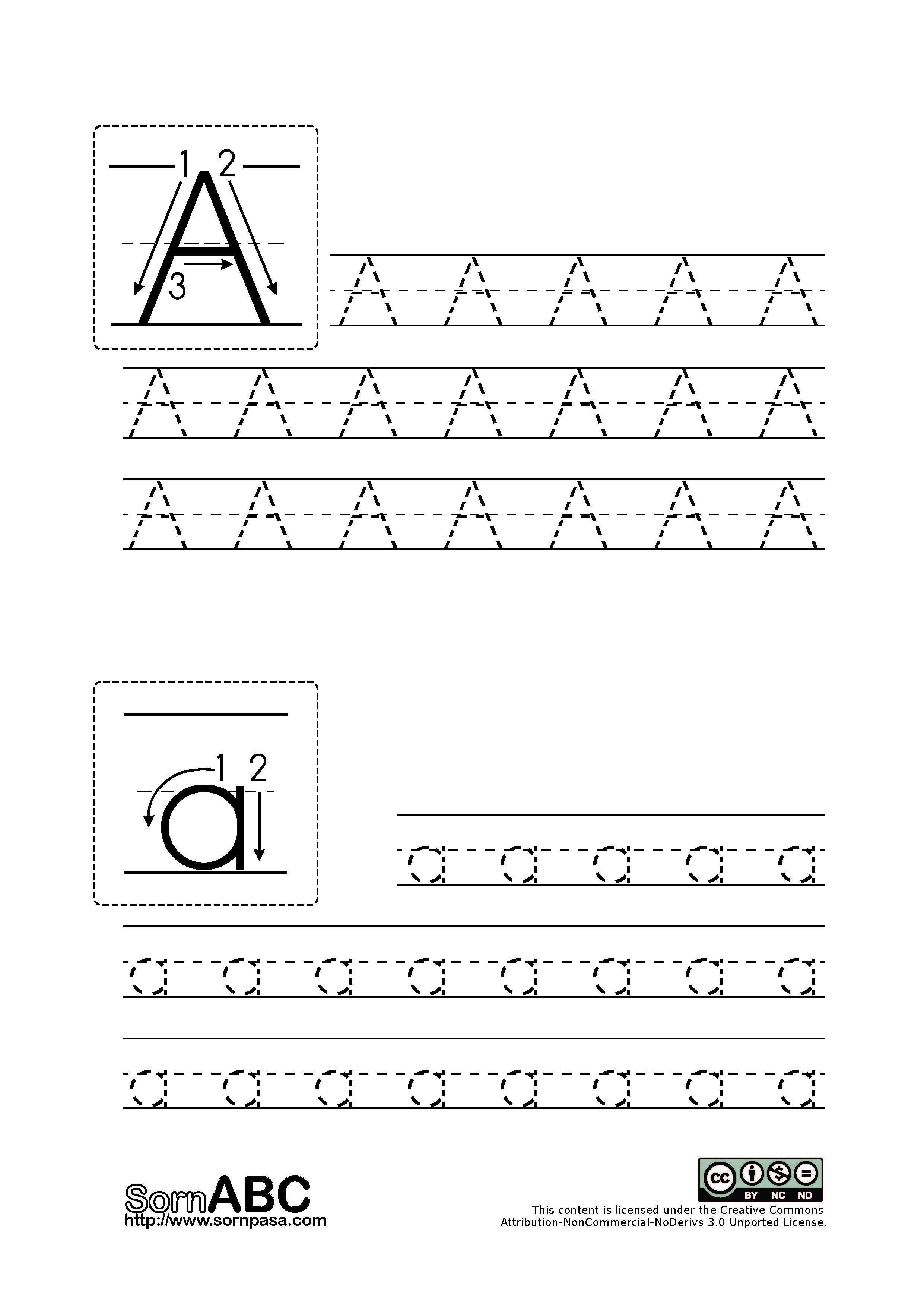 Alphabet For Preschool Writing