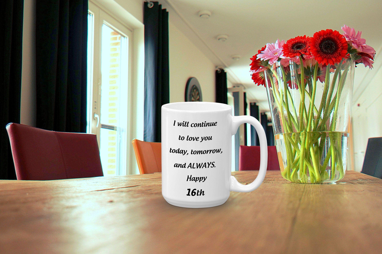 16th Wedding Anniversary Coffee Mug, 16th Romantic