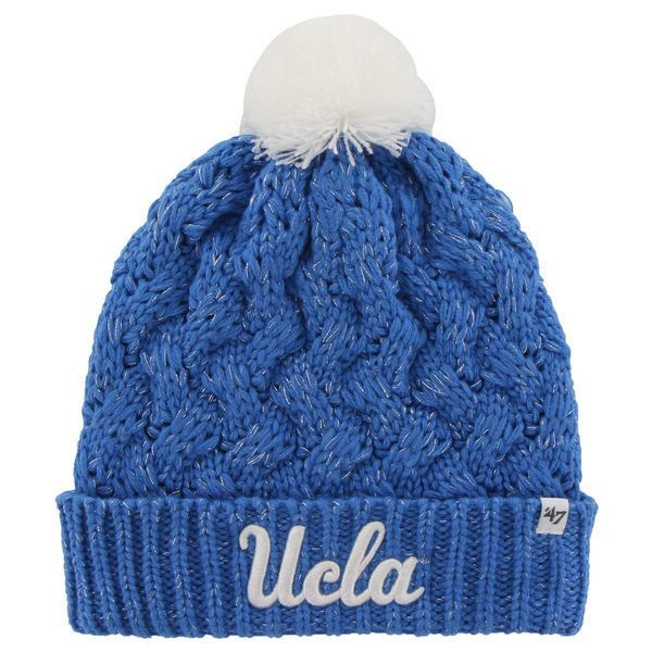 38eb7a7e52402 UCLA Bruins  47 Brand Womens Fiona Cuff Knit Beanie – True Blue ( 22) ❤  liked on Polyvore featuring light blue