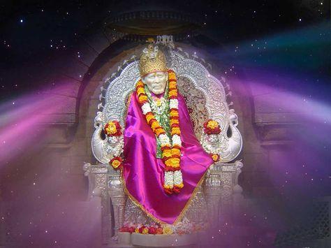Hindu God Sai Baba For Desktop Background Full Size Hd Wallpapers