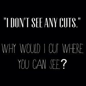 Depressing Quotes About Cutting quote depressed depression sad b&w self harm cutting hope  Depressing Quotes About Cutting