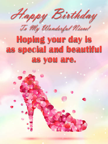 Hope Your Day Is Beautiful Happy Birthday Card For Niece Birthday Greeting Cards By Davia Happy Birthday Niece Niece Birthday Wishes Niece Birthday Quotes
