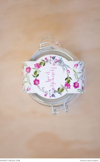 Spoil Yourself Bath Salt Packaging   wedding gift for guests   Printables   The Pretty Blog
