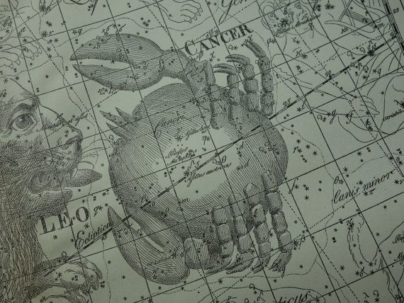 Old Star Chart Dutch Vintage Astronomy Map Of By Decorativeprints