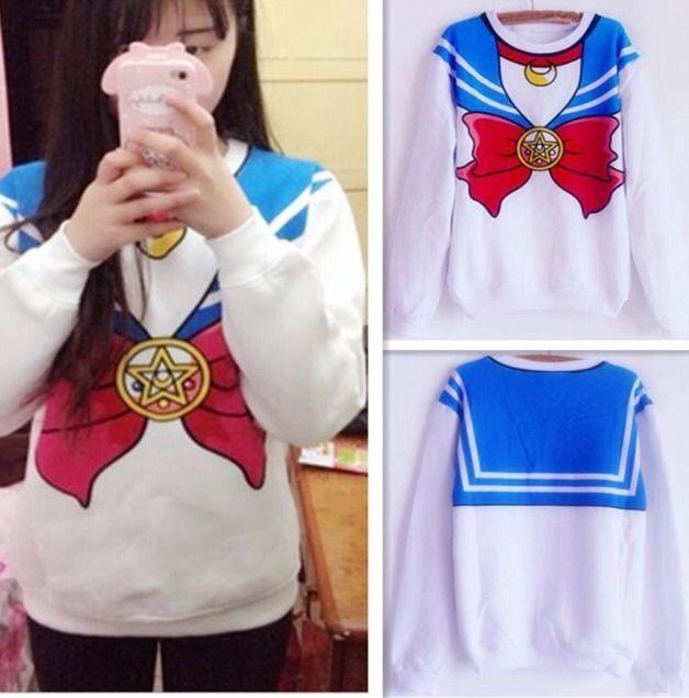 San Francisco d66d7 1c886 Sudadera Sailor Moon   Wishlist   Sailor moon shirt, Sailor ...