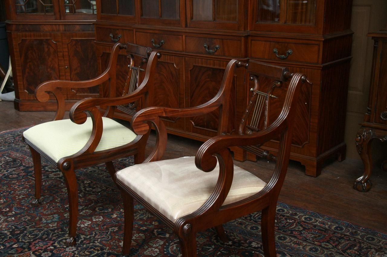 Lyre back dining chairs, Lyre Back Chairs, Harp Back Dining Chairs. Model PR - Lyre Back Dining Chairs, Lyre Back Chairs, Harp Back Dining Chairs