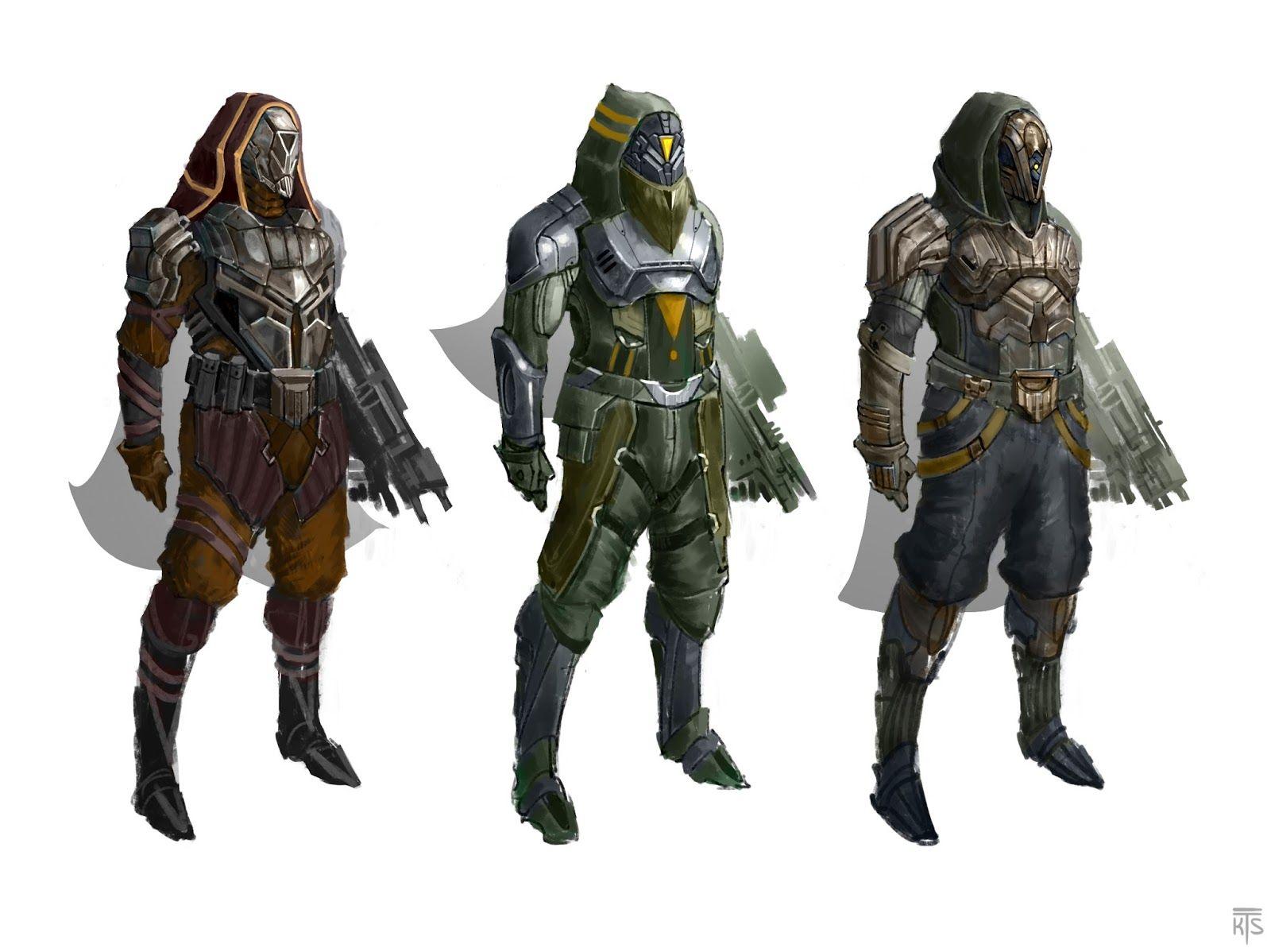 Kyle Sewnarains Blog Destiny FanArt Hunter Armor Concepts House Of Wolves Ps3
