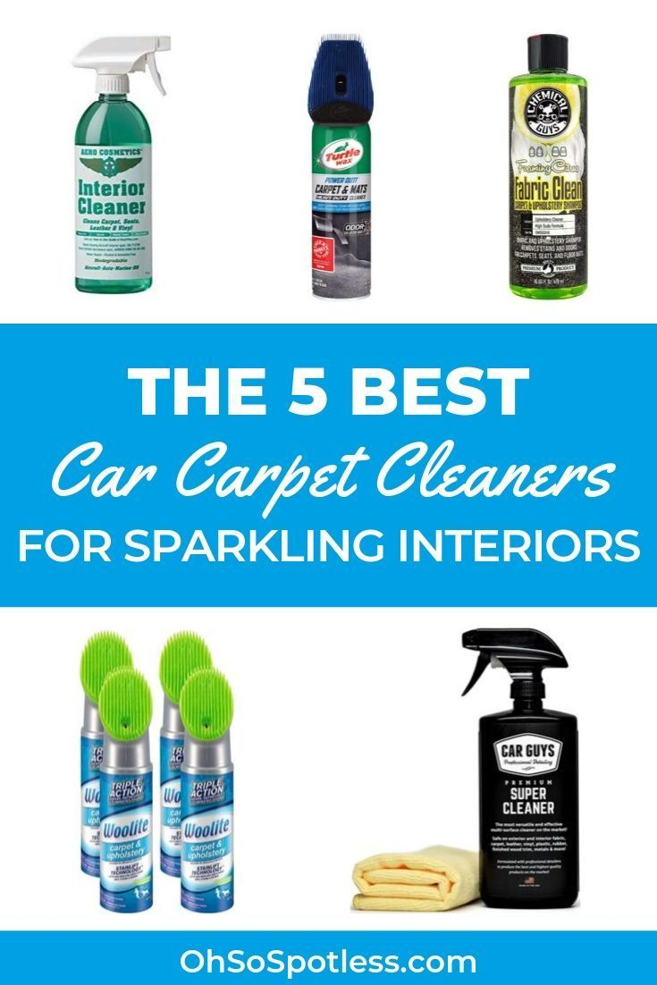 You may be used to vacuuming your car interiors, but how do you remove stubborn stains? Try these 5 best car carpet cleaners -- including non-toxic options. #carpetcleaning #carpetcleaningtips #carpet #carpetcleaninghacks #cleaningtips #cleaninghacks #howtoclean