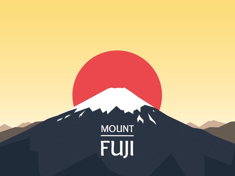 Fuji Mount Fuji Japanese Graphic Design Fuji Mountain