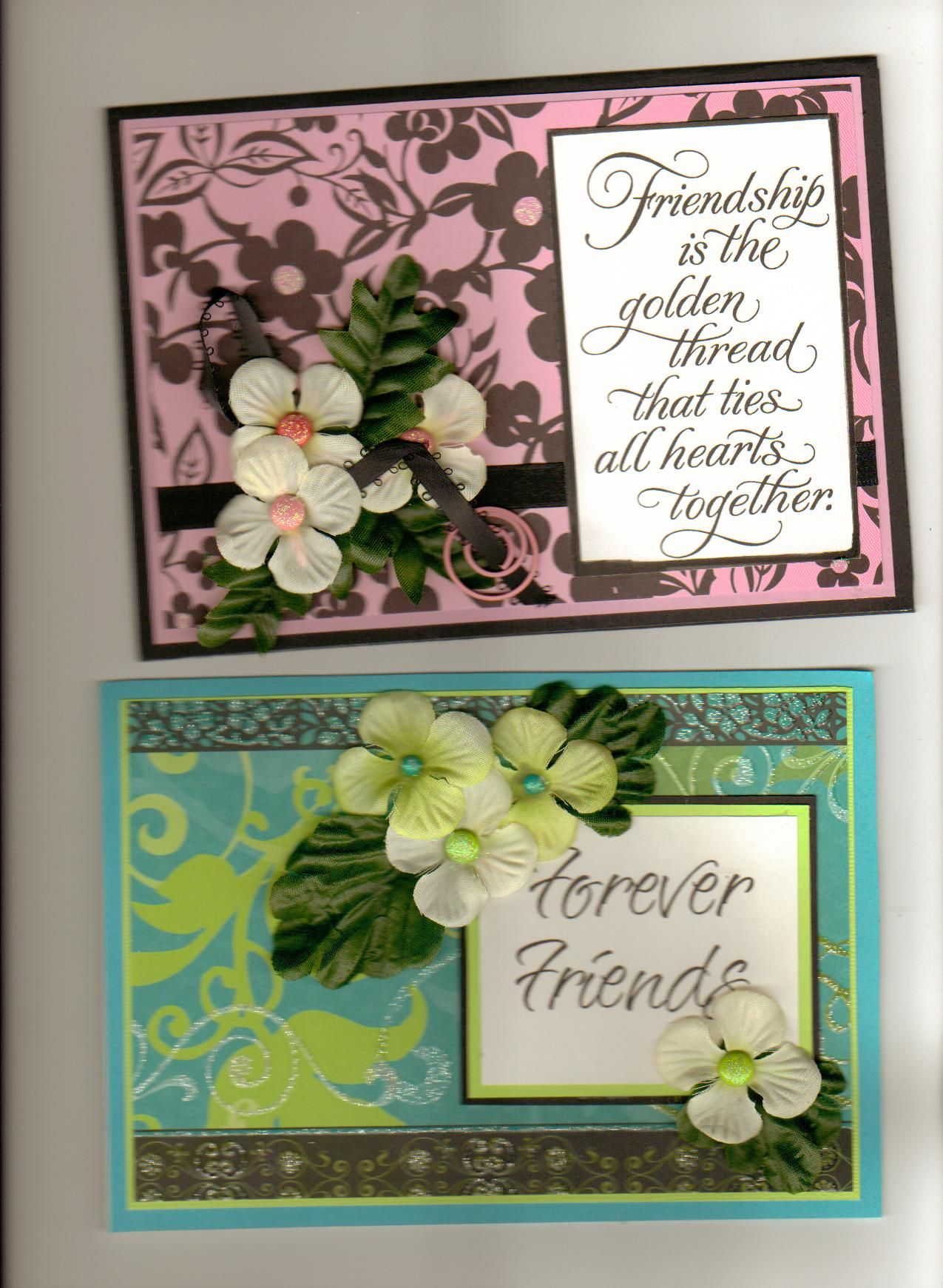 Dcwv Cardstock On Both Cards Verses Were From A Current Store Years
