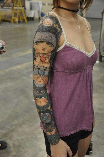 totem #tattoo #arm #full #sleeve
