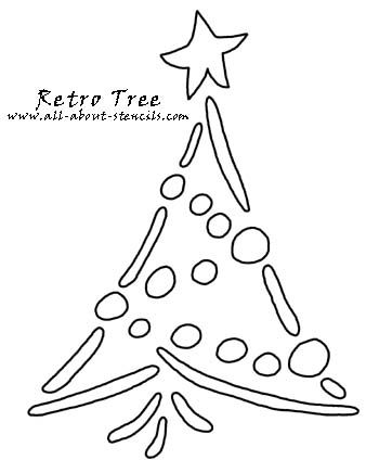 Free Christmas Stencils To Print For Fun Arts And Crafts Christmas Tree Stencil Christmas Stencils Retro Christmas Tree