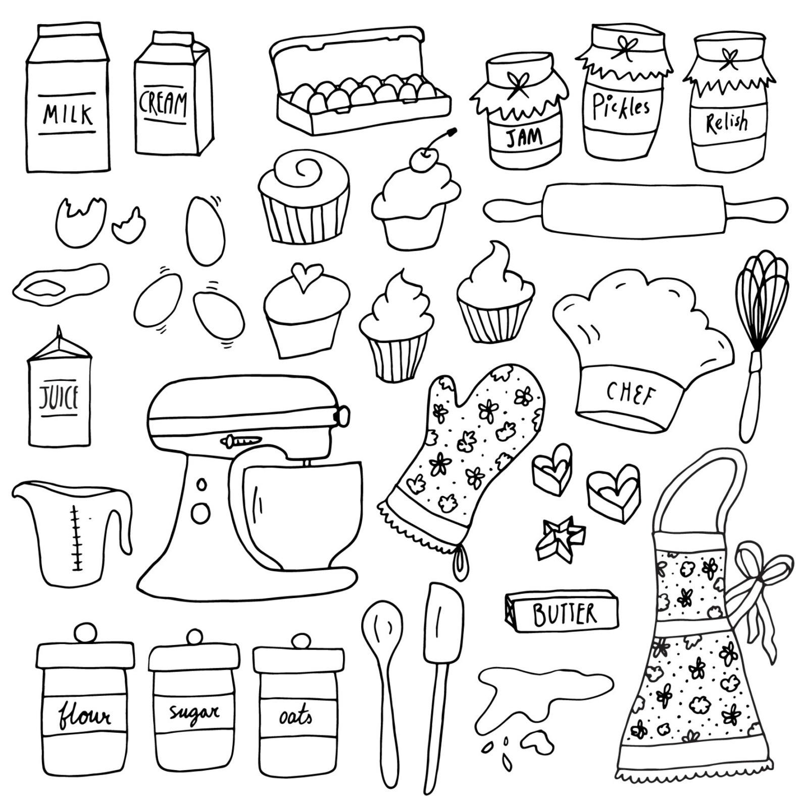 Baking Clipart Set Cake Clipart Digital Clip Art Kitchen Etsy Digital Clip Art Set Clip Art Digital Clip Art