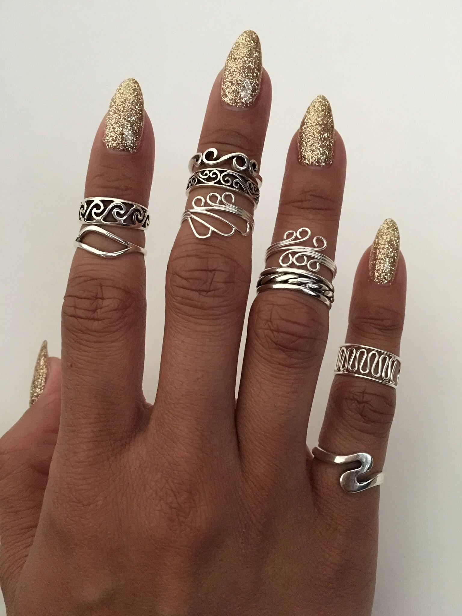 Sterling Silver Swirl Toe Rings Midi Rings Pinky Rings