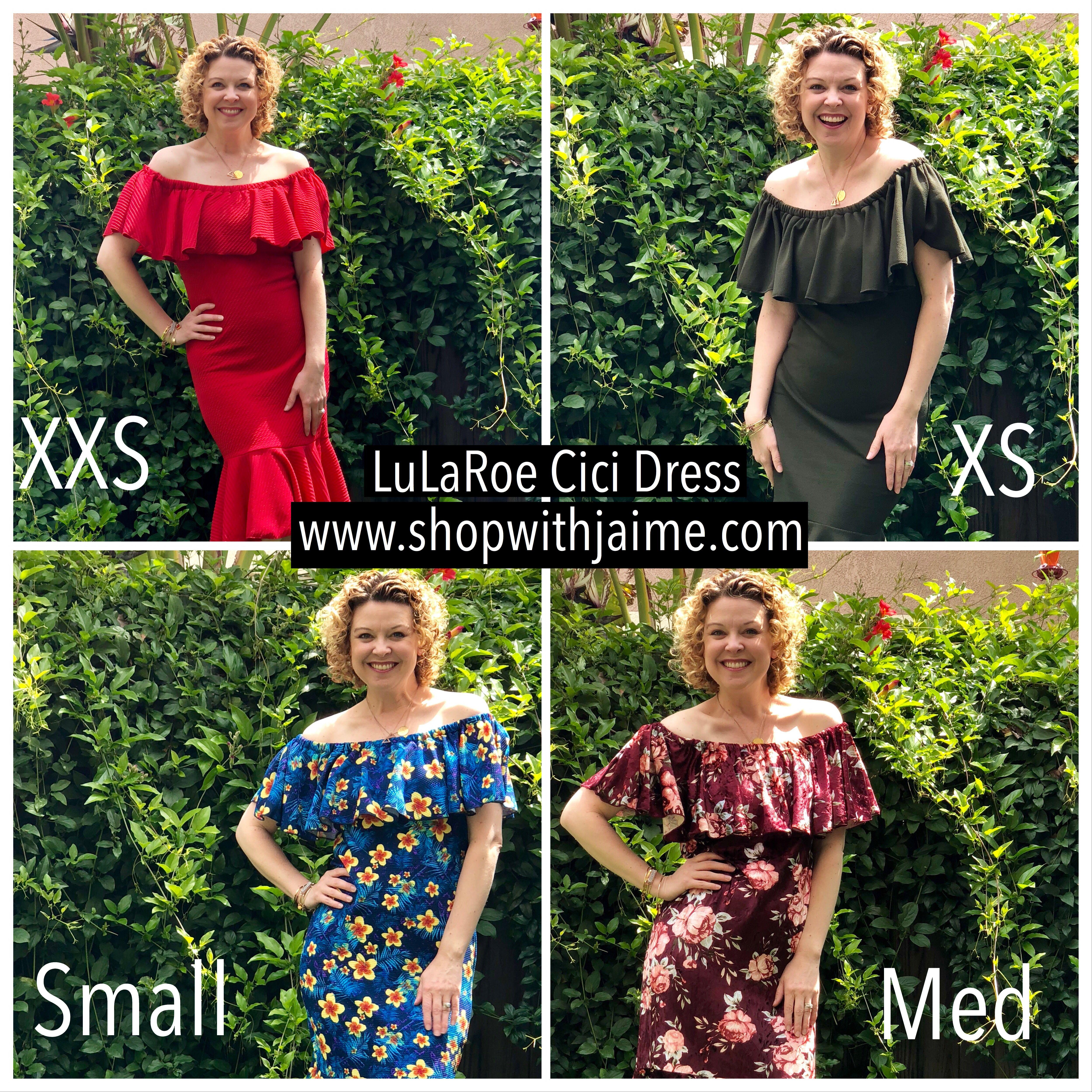 53a75d6762afa New LuLaRoe Cici Dress Sizing Chart