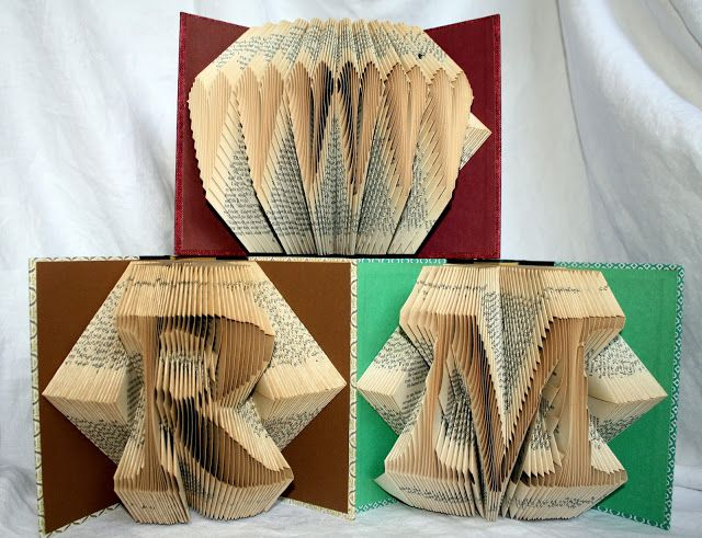 Books folded into letters, words or other designs! WOW! Brilliant
