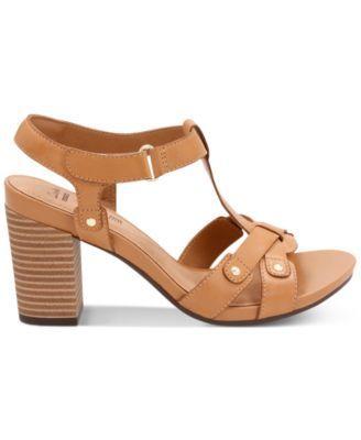 4ca155ae89c1 Clarks Collection Women s Banoy Valtina Dress Sandals - Tan Beige 8.5N