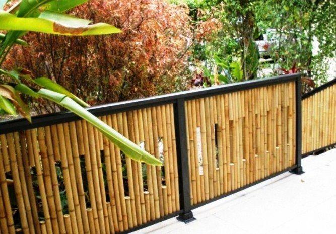 Contoh Model Pagar Bambu Minimalis Modern | Halaman Belakang, Pagar Kebun,  Ide Pagar Murah