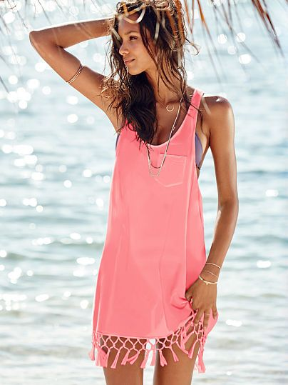 Easy, breezy & chic: the Tassle Cover-up from Victoria's Secret. Shop our Beach Sexy® collection for the cutest cover-ups and hottest caftans under the sun.