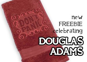 Embroidery Designs at Urban Threads - Free Designs For all Douglas Adams fans out there. :)