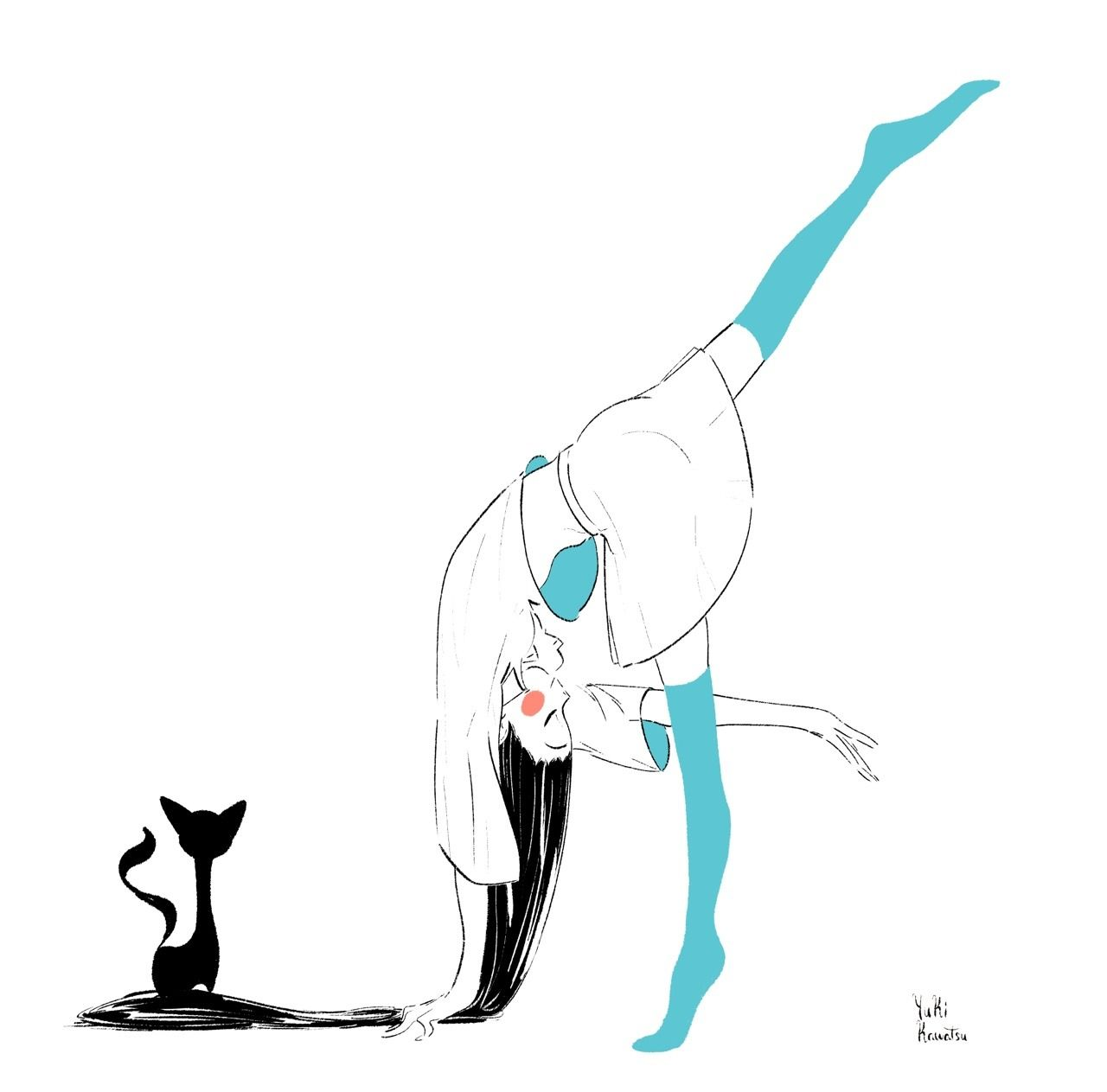 yuki kawatsu illustration アニメーションスケッチ キャラクターデザイン ダンス イラスト
