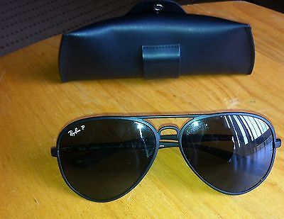 Ray Ban Men s Aviator Liteforce Model RB 4180 Matte Frame Italy   eBay b883055efb