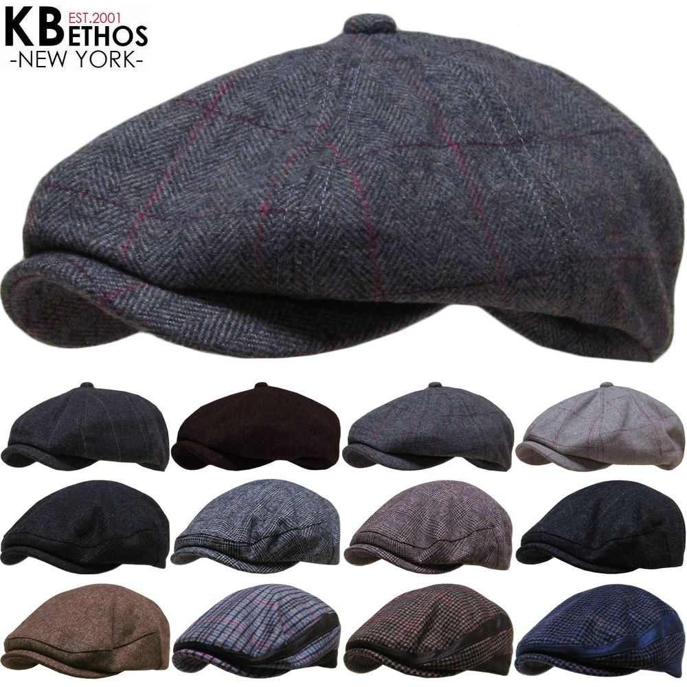 258ef6184b8ed Men s Cabbie Newsboy and Ascot Plaid Ivy Hat (Various Styles ...