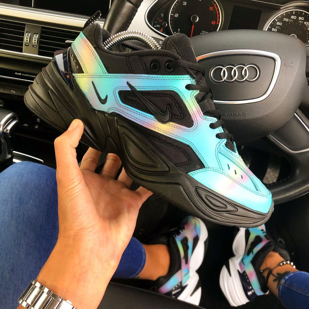 """fb6caf87ceda7 Nike M2K Tekno x KylieBoon """"OIL SPILL"""" in 2019"""