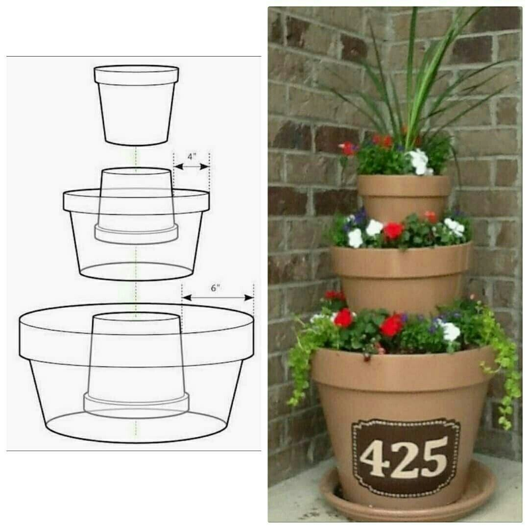 Diy Flower Gardening Ideas And Planter Projects: Torre De Vasos #facavocemesmo #GostoDisto #diy #PAP