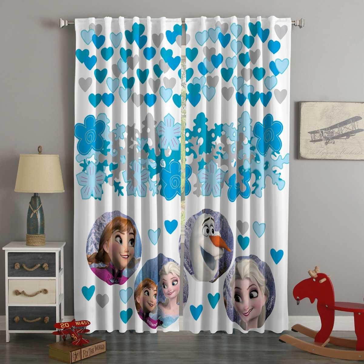 3d Printed Frozen Style Custom Living Room Curtains Curtains Living Room Custom Curtains Curtain Decor